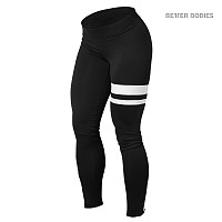 Better Bodies Varsity Tights, Black/White