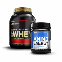 ON Whey Gold Standard 2,3kg + Amino Energy 558g.